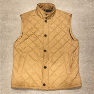 Brooks Brothers - Tan Quilted Vest